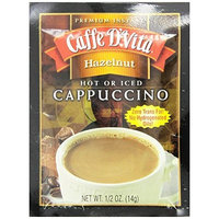 Caffe D'Vita Hazelnut Cappuccino, .5-Ounce Single Serve Envelopes (Pack of 24)