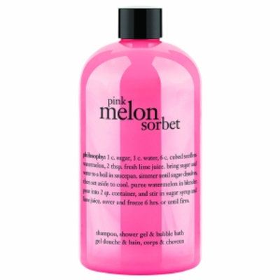 philosophy 3-in-1 ultra rich shampoo, shower gel & bubble bath, pink melon sorbet, 16 oz