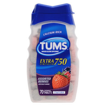Tums Extra-Strength Antacid Tablets - Assorted Berries, 70 ct
