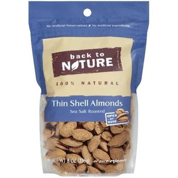 Back To Nature Nuts Almonds Salt Thin Shelled 8 oz. (Pack of 9)
