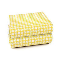 Olli & Lime Miller Fitted Crib Sheet Set, Yellow/White