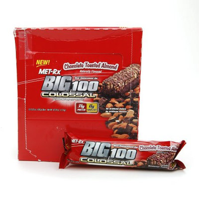 Met-Rx Big 100 Colossal Meal Replacement Bars Chocolate Toasted Almond