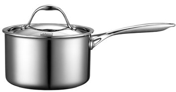Neway International Neway NC00218 Multi-Ply Clad Stainless-Steel 3-Quart Covered Sauce Pan
