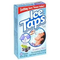 Ice Taps Blueberry Blast Oral Anesthetic, 12-Count Box (Pack of 5)