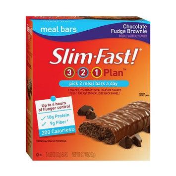 Slim-Fast 3-2-1 Plan Meal Bars 5 Pack Chocolate Brownie