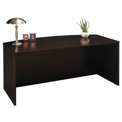 BUSH BUSINESS FURNITURE Series C:72-inch Bow Front Desk