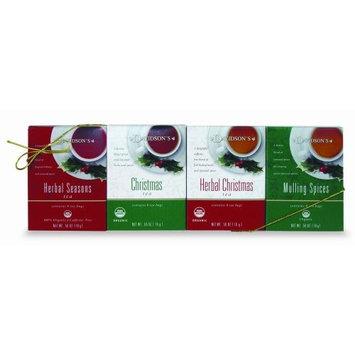 Davidson's Tea Holiday Teas 4-pack, 0.56 Ounce Box