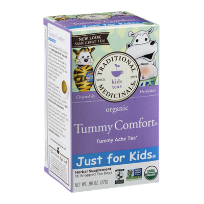 Traditional Medicinals Tummy Comfort Kids Herbal Tummy Ache Tea Bags - 18 CT