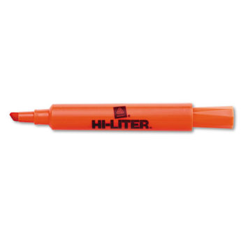 Hi-liter Hi-Liter Desk Style Highlighter, Chisel Tip, 12/Pack