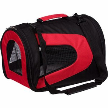 Pet Life Folding Zippered Sporty Mesh Carrier, Medium, Red and Black, 1 ea