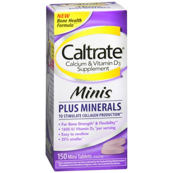 Caltrate Calcium Minis+ Minerals, Tablet, 150 ea