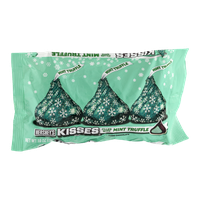 Hershey's Kisses Holiday Dark Chocolate Filled with Mint Truffle