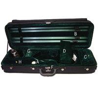 ViolinSmart Oblong Violin Case 4/4 Full Size (Green)