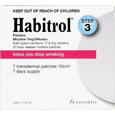 Habitrol Smoking Cessation Patches, Step 3, 7 Mg-7 ct