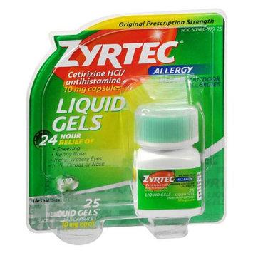 Zyrtec Antihistamine Liquid Gels