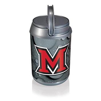 Picnic Time 691-00-000-334-0 Mini Miami University (Ohio) Redhawks Digital Print Mini Can Cooler in Silver/Gray