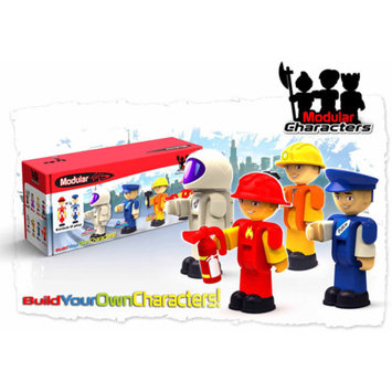Modular Toys Worker Characters, 4-Pack