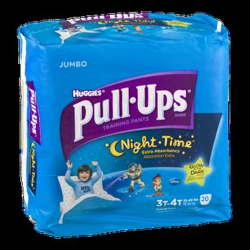 Huggies Pull-Ups Night Time Training Pants Disney Glow In The Dark 3T-4T - 20 CT