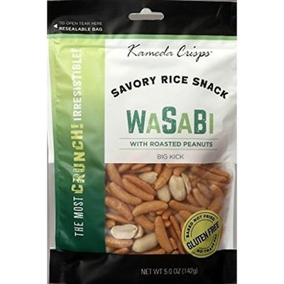 Kameda Crisps with Peanuts Wasabi, 5-Ounce (Pack of 6)