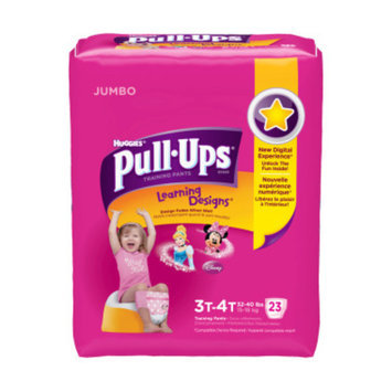 Huggies Pull-Ups Training Pants, 3T - 4T, Girls, 22 ct