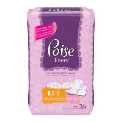 Poise Liners - Very Light, 26 ct