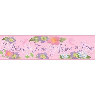 York Wall Coverings Believe in Fairies Wallpaper Border - Pink
