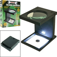 Trademark Tools Foldable Magnifier w/ 3 LED Lights
