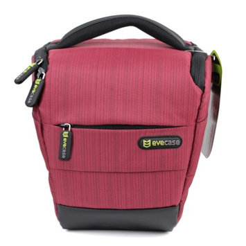 Evecase Red DSLR Camera Holster Bag with Strap for Fuji FinePix S8200, S4200, S2950, S2800HD, S4500, S4800, S6800, S8400W, S8400, SL300, S3200, S4000