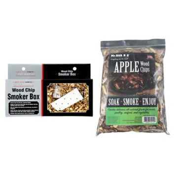 Mr. Bar-B-Q - Apple Wood Chips with Stainless Steel Smoker Box