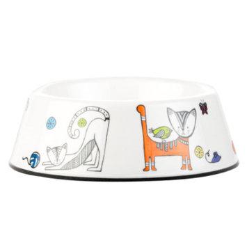 Whisker CityA Melamine Cat Bowl