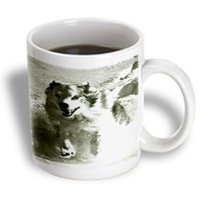 Recaro North 3dRose - Florene Dog - Australian Shepherd Dog In Snow - 15 oz mug