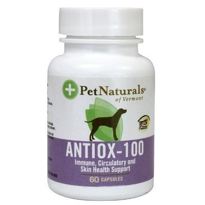 Pet Naturals Antiox For Dogs Capsules, 100 Mg, 60-Count Bottle