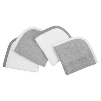 TL Care Organic Wash Cloth 4 Pack - Gray