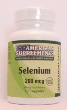 Selenium 200 MCG No Chinese Ingredients American Supplements 60 Caps