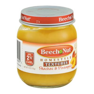 Beech Nut Homestyle Textures Stage 2 1/2 Peaches & Pineapples
