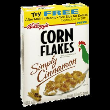 Kellogg's Corn Flakes Simply Cinnamon Cereal