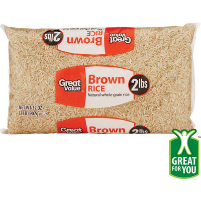 Great Value: Brown Rice, 32 Oz