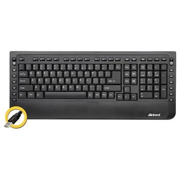 Inland Multimedia USB Keyboard, Black