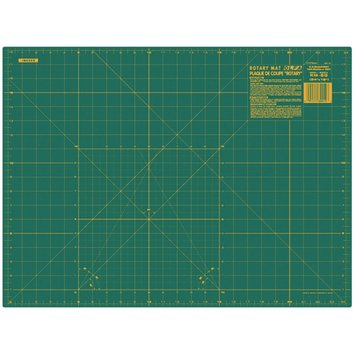 Olfa 18x24 Gridded Cutting Mat - Green