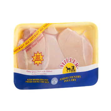 Miller Amish Country Poultry Chicken Breast Boneless All Natural