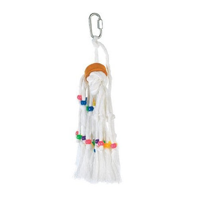 Hagen Living World Small Rope Tassel with Beads & Wood Cylinder