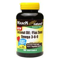 Mason Natural Coconut Oil / Flax Seed Omega 3-6-9, Softgels