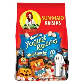 Sun-Maid Vanilla Yogurt Raisins Halloween Mini-Snacks 10 pk
