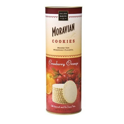 Salem Baking Company Moravian Cranberry Orange Cookies, 4.75-Ounce Tubes (Pack of 2)