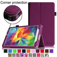 Fintie Folio Case Slim Fit Premium Vegan Leather Cover for Samsung Tab S 8.4-Inch Tablet, Purple