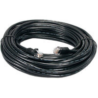 QVS CC715-200BK CAT6 Gigabit Flexible Molded Black Patch Cord, 200'