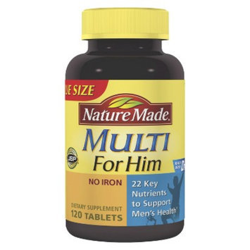 Nature Made Multivitamin for Him Tablets - 120 Count