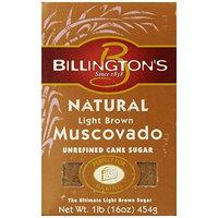 Billington's Unrefined Sugars Billington's Natural Light Brown Muscovado Sugar, 16-Ounce Bags (Pack of 10)