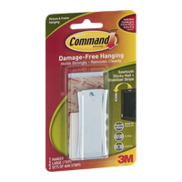 Command Picture & Frame Hanging Sawtooth Sticky Nail + Stabilizer Strips