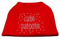 Mirage Pet Products 5224 XXXLRD Cutie Patootie Rhinestone Shirts Red XXXL 20